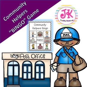 Social Studies Community Helpers Bingo Game By Jk Teaching Resources