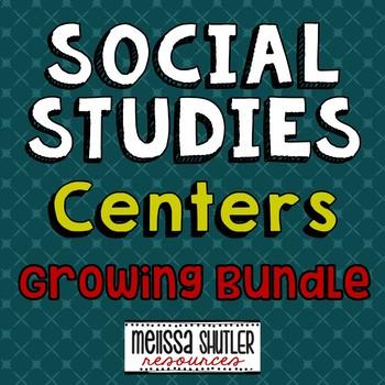 Social Studies Centers Growing Bundle