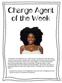 Social Studies Change Agent Mini Bios Month 1