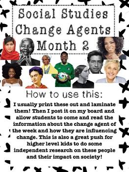 Social Studies Change Agent Mini Bios Month 2