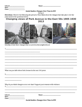 Social Studies: Changes Over Time in NYC