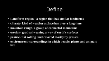 Social Studies Chapter 1 Lesson's 2 and 3