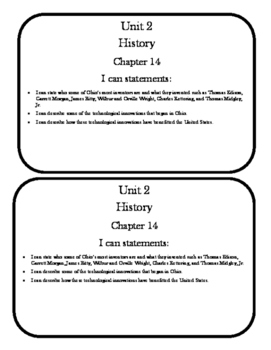 Social Studies Chapter 14 Notebook Pages