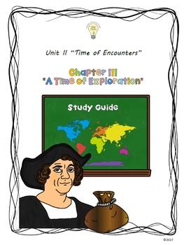 Social Studies Chapter 3 A Time of Exploration US History BUNDLE