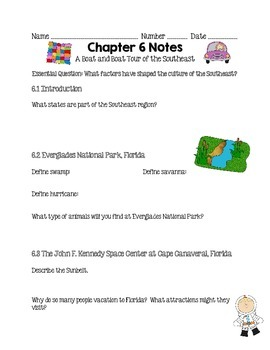 Social Studies Alive Ch. 6 & 7 Notes 4th Grade
