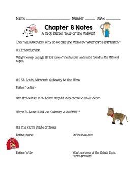 Social Studies Alive Ch. 8 & 9 Notes 4th Grade