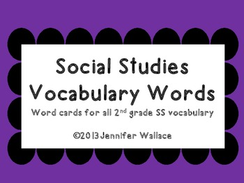 Social Studies Chevron Vocabulary Words