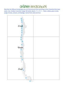 Social Studies - Chilean Landscapes - Worksheet