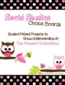 Social Studies Choice Boards