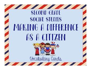 Social Studies Citizens Vocabulary Cards