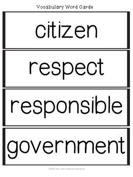 Social Studies Citizenship, Government and American Symbols