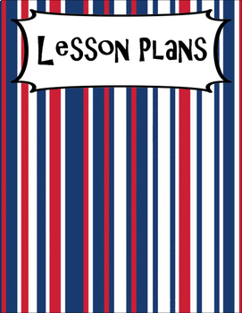 SECONDARY CLASSROOM DECOR, BINDER LABELS, Patriotic Stripes