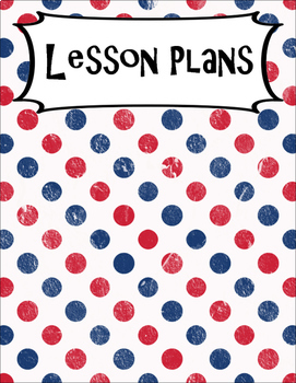 SECONDARY CLASSROOM DECOR, BINDER LABELS, Patriotic Dots, Red, White, Blue