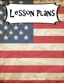SECONDARY CLASSROOM DECOR, BINDER LABELS, Patriotic American Flag