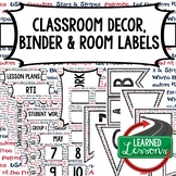 SECONDARY CLASSROOM DECOR, BINDER LABELS, Patriotic Words
