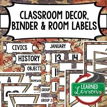 Social Studies Civics and U.S. History Binder Covers and Labels We The People