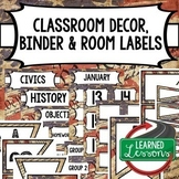 Secondary CLASSROOM DECOR, BINDER LABELS, ALL SUBJECTS,  W