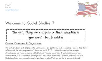 Social Studies Class Syllabus