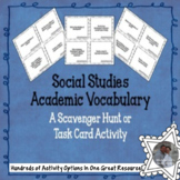 Social Studies Academic Vocabulary Task Cards
