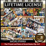 Social Studies: Clip-Art Growing BUNDLE! Lifetime License 500+