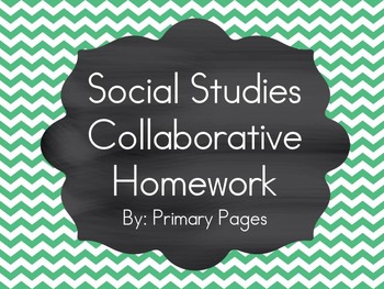 *EDITABLE* Social Studies: 35 Collaborative Homework Assignments