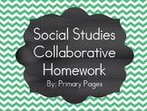 *EDITABLE* Social Studies: 35 Collaborative Homework Assignments