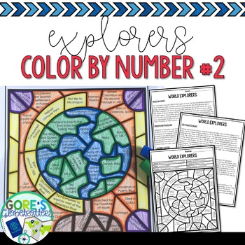 Social Studies Color by Number Explorers 2