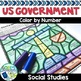 Social Studies Worksheets Color by Number Bundle - Explorers to Civil War