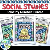Social Studies Worksheets Color by Number Bundle - Explore