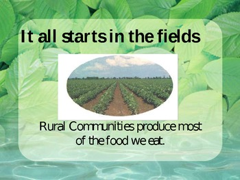 Social Studies-Communities - Follow the Food