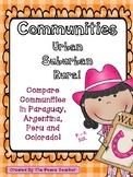 Communities: Urban, Suburban, Rural -  Primary Grades