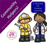 "Social Studies - Community Helpers Interactive Activity ""Match Book"""