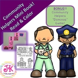 Social Studies: Community Helpers Mini Book with Coloring Pages BONUS Dominos