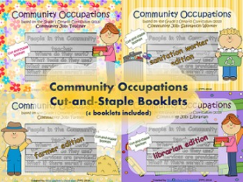 Social Studies: Community Occupations Booklet 4-Pack #1 {Ontario Curriculum}