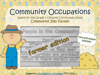 Social Studies: Community Occupations Booklet - Farmer {On