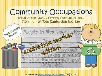 Social Studies: Community Occupations Booklet - Sanitation Worker {Ontario}