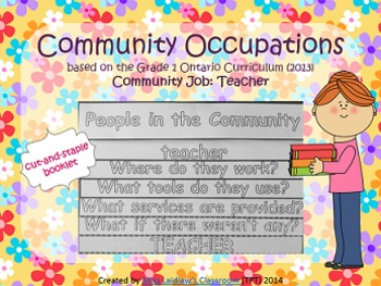 Social Studies: Community Occupations Booklet - Teacher {Ontario Curriculum}