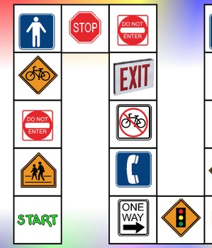Social Studies: Community Signs - Board Game