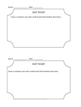 Social Studies Compass Rose Exit Ticket