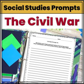Civil War Journal Prompts & Constructed Responses
