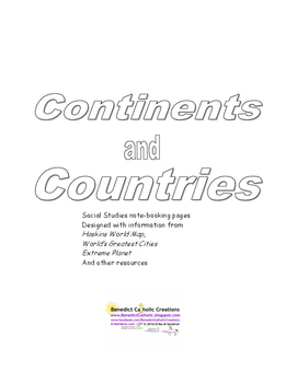Social Studies - Continents, Countries, & Cities