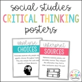 Social Studies Critical Thinking Skills Posters