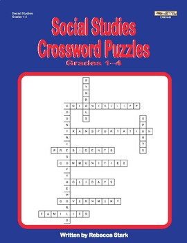 Social Studies Crosswords, Grades 1–4