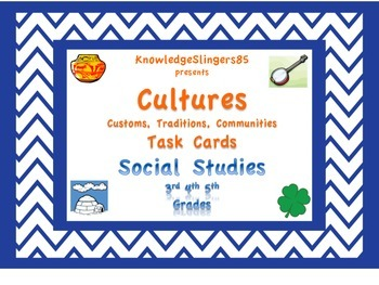 Culture Task Cards for Social Studies: 3rd, 4th, 5th