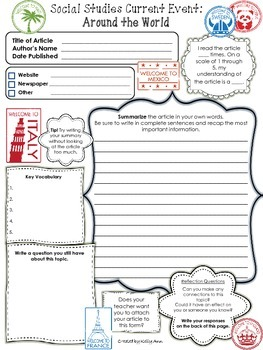 A worksheet containing questions that can accompany any current ...