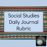Social Studies Daily Journal Rubric
