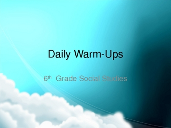 Social Studies Daily Warm-Up Questions Review Questions and Answers
