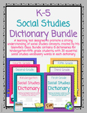 Social Studies Dictionary Bundle