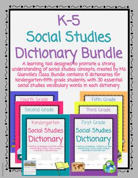 Social Studies Dictionary Bundle
