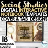 Social Studies Digital Interactive Notebook Templates Cove
